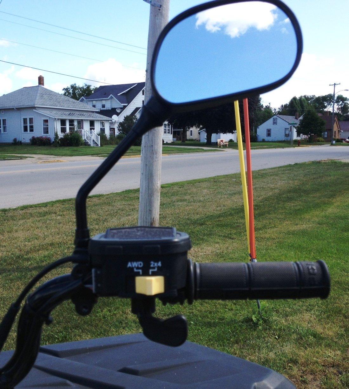 Kubota Tractor Rear View Mirror : Atv mirror set universal for all s maverick advantage