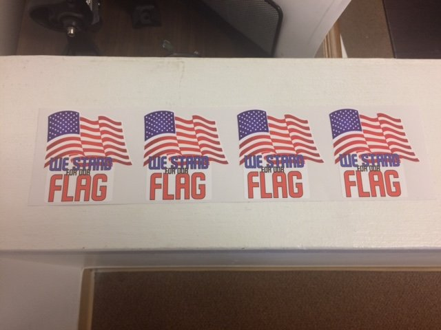 We Stand For The Flag Vinyl Decal Set Of 4 Vinyl